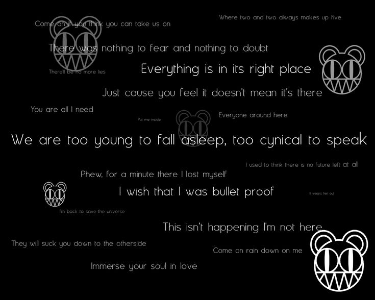 1000+ Ideas About Radiohead Lyrics On Pinterest