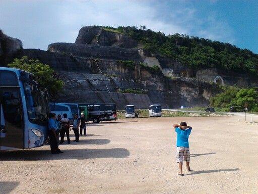 Rock cliff near the beach