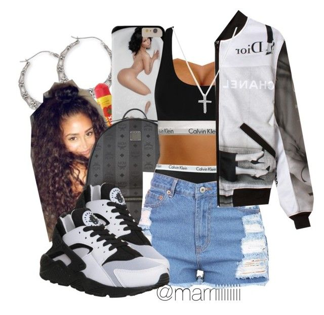 """""""Win Again"""" by trill-forlife ❤ liked on Polyvore featuring Carmex, MCM, Calvin Klein, VFiles, NIKE and Nadri"""