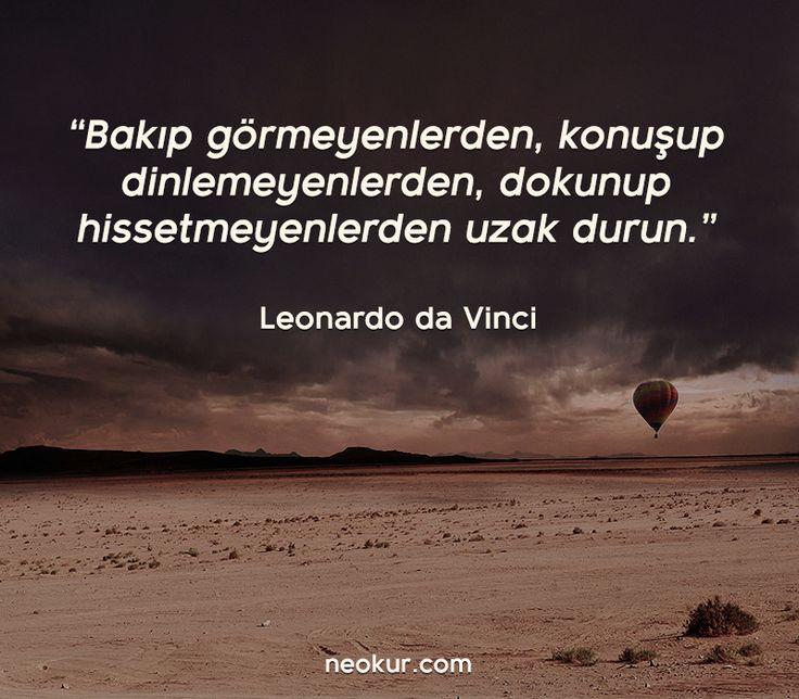 Leonardo Da Vinci den muhteşem tavsiye