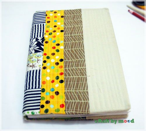 Menjahit sampul buku | craftbymood.com