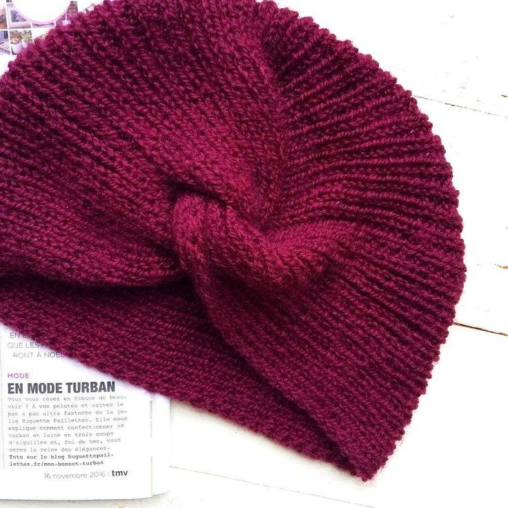 Tricoter un turban au style rétro - Marie Claire