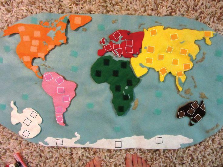 Montessori Continents Map & Quietbook