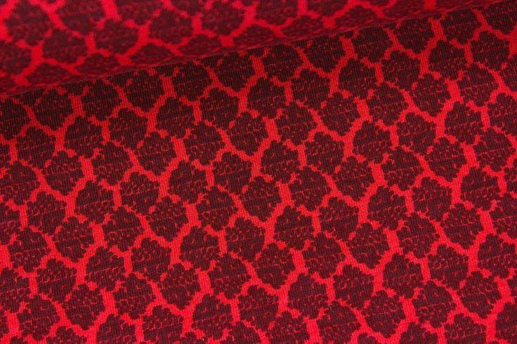 Stoff Blumen - Jersey - Flourish - Blumen - Rot - EPLUCHE - ein Designerstück von alles-fuer-selbermacher bei DaWanda