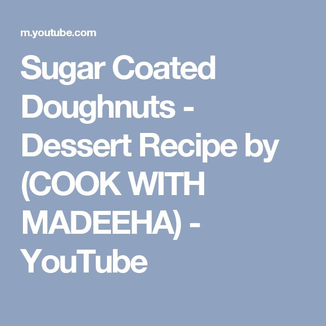 Sugar Coated Doughnuts - Dessert Recipe by (COOK WITH MADEEHA) - YouTube