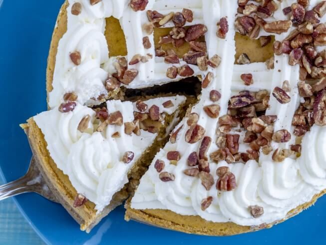 photo of Rich Pumpkin Cheesecake With Cake Mix Crust