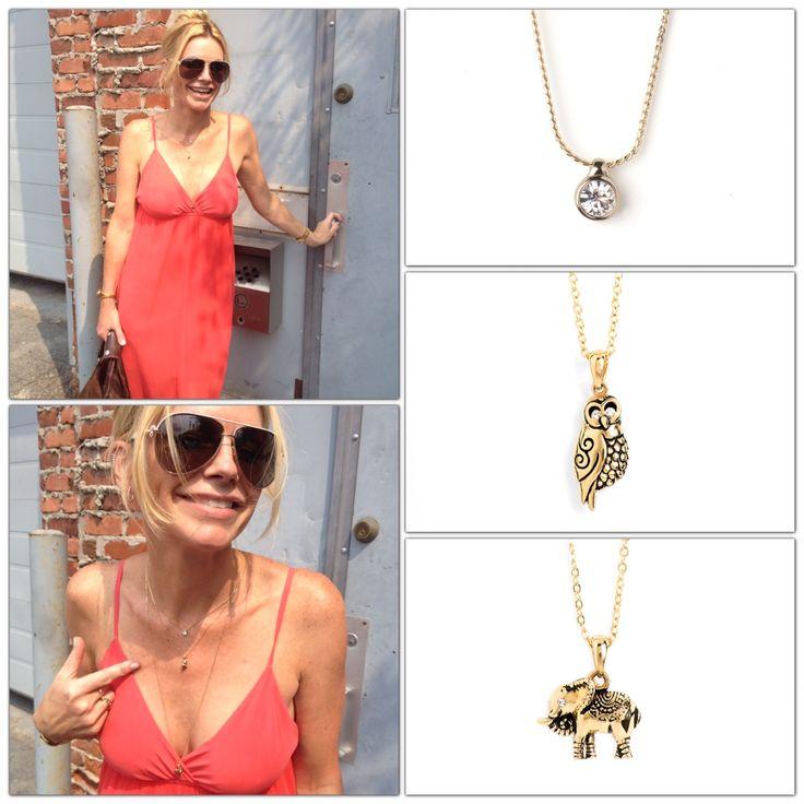 #lookdujour, Voici le look parfait pour porter un des coup de coeur de Caroline, les chaines avec pendentifs de la collection J'AIME. carolineneron.com