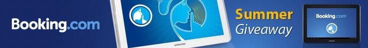 Concorso Booking.com: in palio Travel Pack con tablet Samsung Galaxy