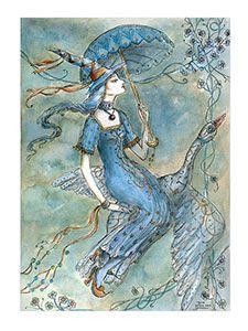 синий зонтик ведьма