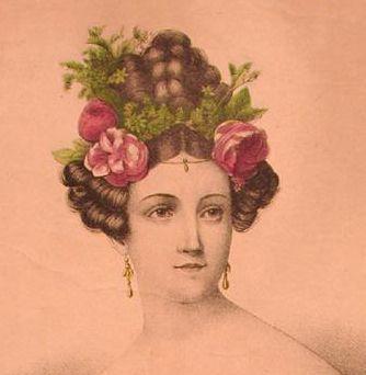 Early 1830er evening hairdo