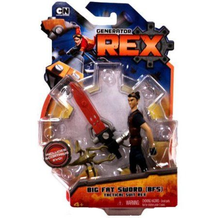 Generator Rex Rex Action Figure [Big Fat Sword Tactical Suit], Multicolor