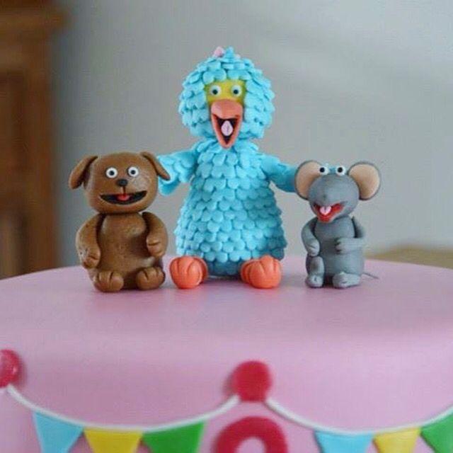 Tommie, Pino en Ieniemienie van fondant voor op de Sesamstraat taart