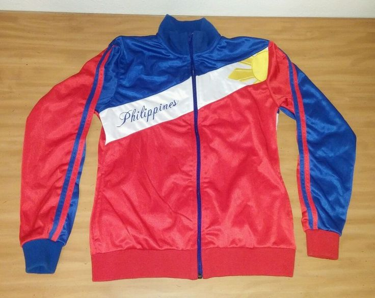 Team My Philippines Red White & Blue Colored Track Jacket Size Small Olympic Sun #MyPhilippines #TrackJacket
