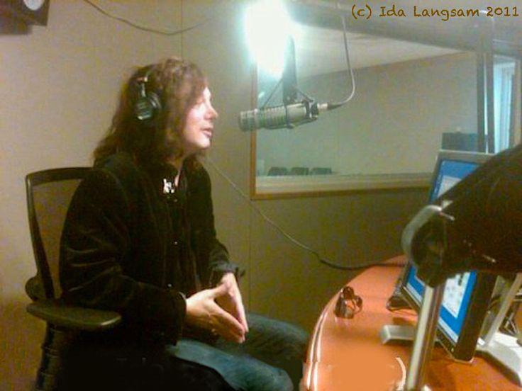 Alan Merrill interview on Sirius radio New York in 2011. Photo by publicist Ida Langsam.