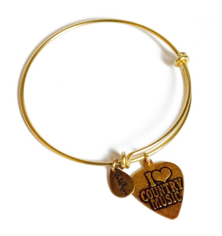 """Bella Ryann """"I Love Country Music"""" Charm Bracelet"""