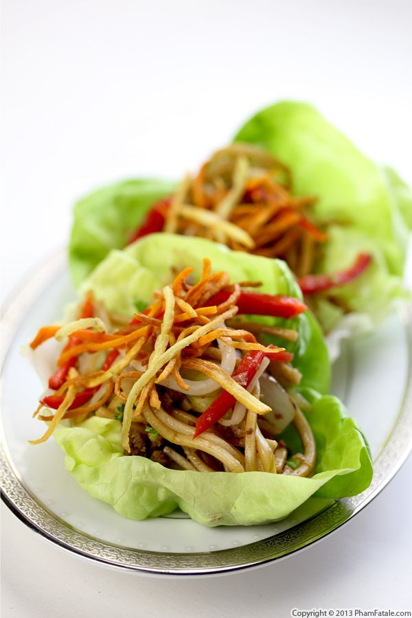 Hakka Noodles in Lettuce Cups Recipe