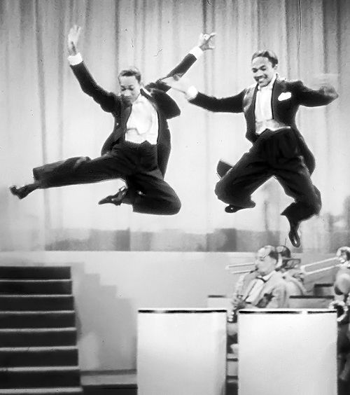 """Nicholas Brothers in Stormy Weather - Fred Astaire once called this performance """"the greatest dance number ever filmed."""""""