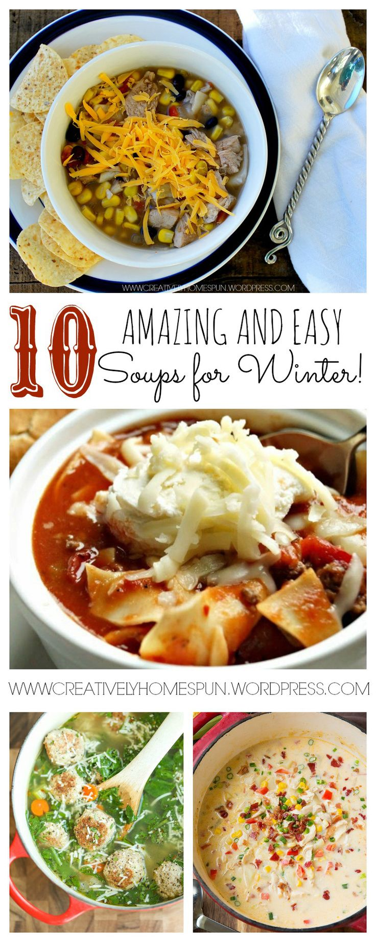 10 Amazing Soup Recipes!!! Great for the upcoming winter!! #comfortfood #soup #dinner #easymeal