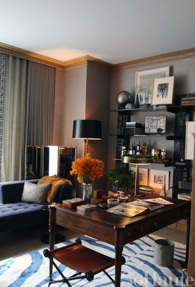 : 2012 David, Bays 2012, Offices Inspiration, Offices Spaces, Colors, Bays Decor, Gentleman Approved Decor, Study, Bays David