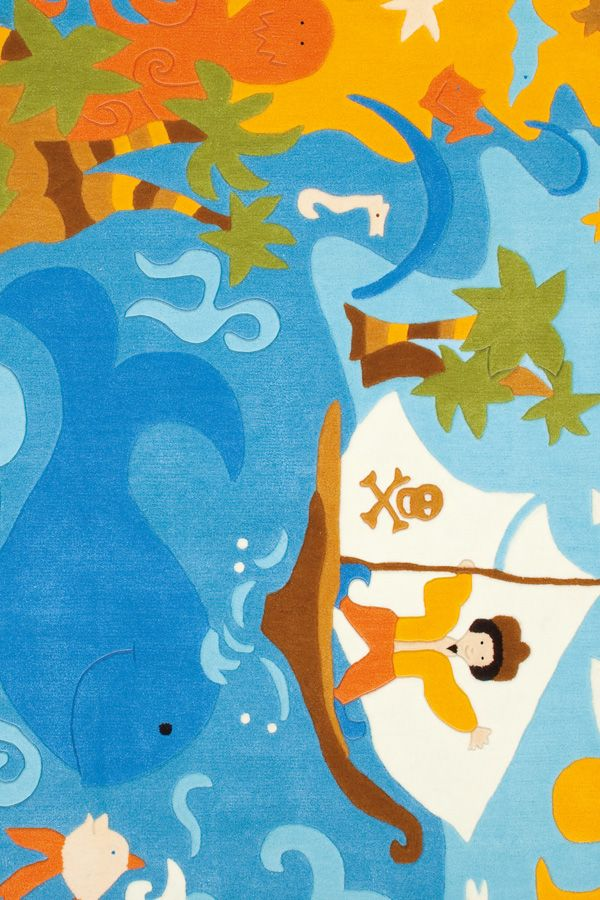 Incredibile Multicolore Bambini Tappeti KD-974250 X 300 CM ( 8'x10′ ) | Arts of India – Italy