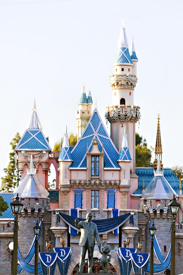 Disneyland // Disneyland 60th Anniversary Sleeping Beauty Castle