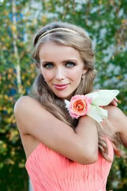 Bohemian Bridesmaid Look with Matching Coral Corsage