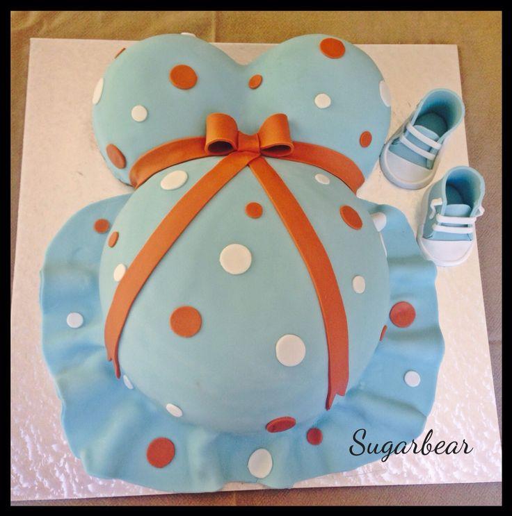 Little boy baby shower cake