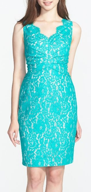 Pop of color for the bridesmaids dresses