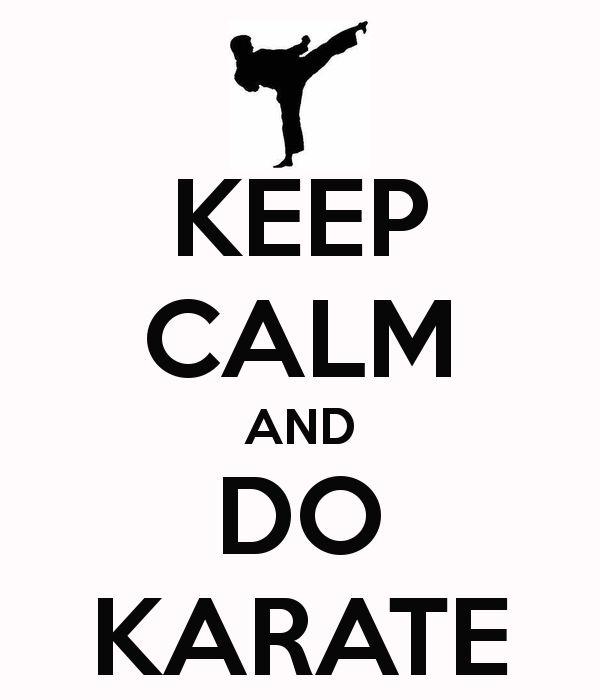 KEEP CALM AND DO KARATE -- I need this