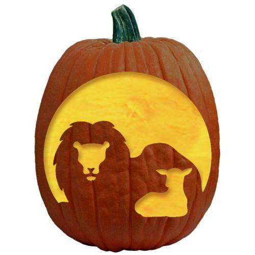 Thelionandthelambpumpkincarvingpattern pumpkin carving for Fall pumpkin stencils