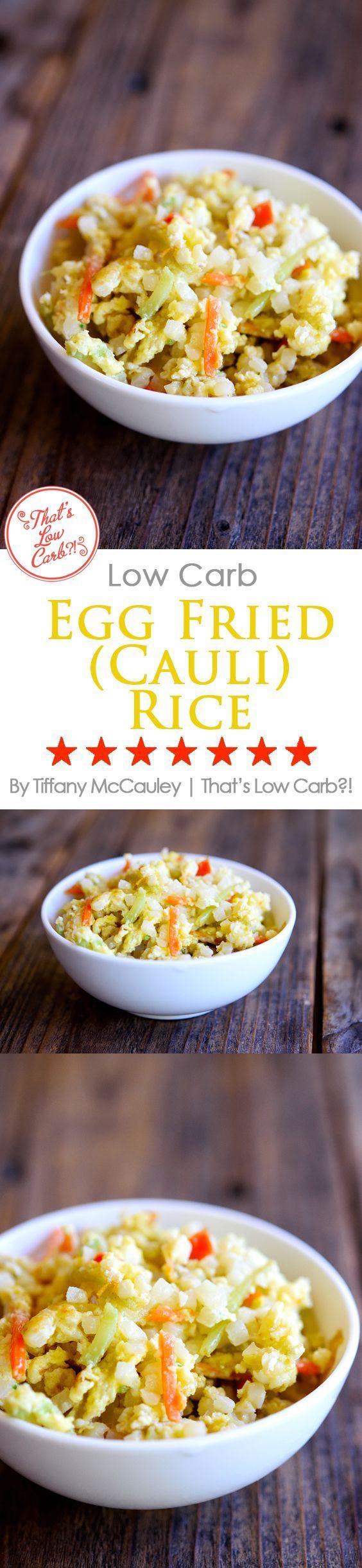 Low Carb Recipes   Egg Fried Rice Recipe   Egg Fried Cauliflower Rice Recipe   Low Carb Asian Food Recipes