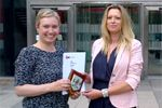 A member of our team collecting not 1 but 2 awards from The Chartered Institute of Marketing. Congratulations to Kirsty Beasley