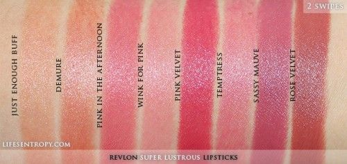 Revlon Super Lustrous Lipsticks Swatch1