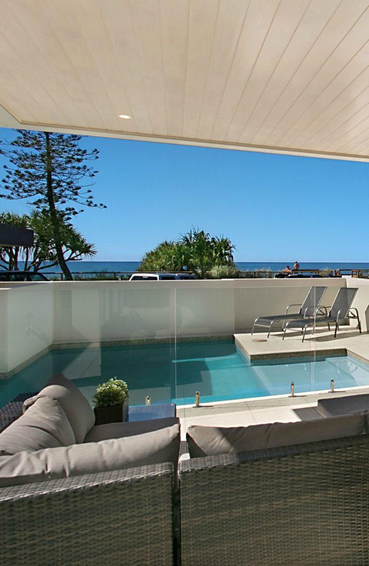 Private pool at Elite Holiday Home, Oceans 74. #luxuryhomes #luxury #beachfront #eliteholidayhomes #affordableluxury #goldcoast #holiday #travel #australia  https://www.eliteholidayhomes.com.au/properties/oceans/