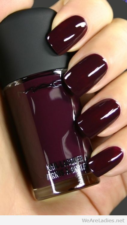 Awesome MAC burgundy nail polish