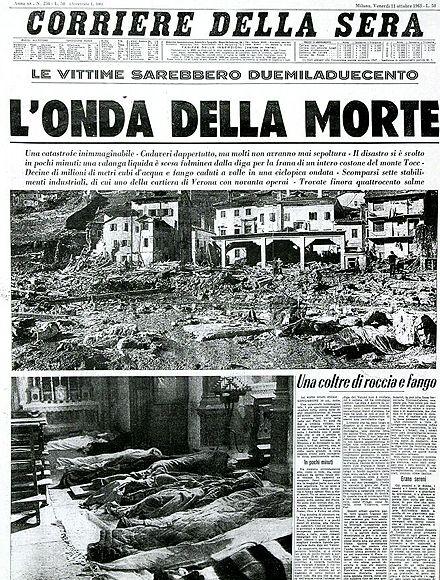 Corriere della Sera. L'onda della morte