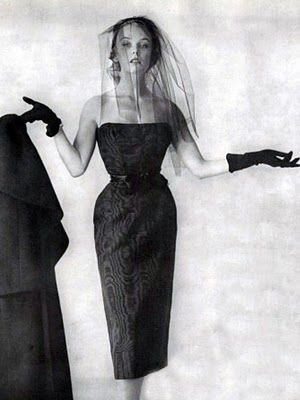 1950s Balenciaga  - funeral fashion. Because, well, if you have to wear black anyway...