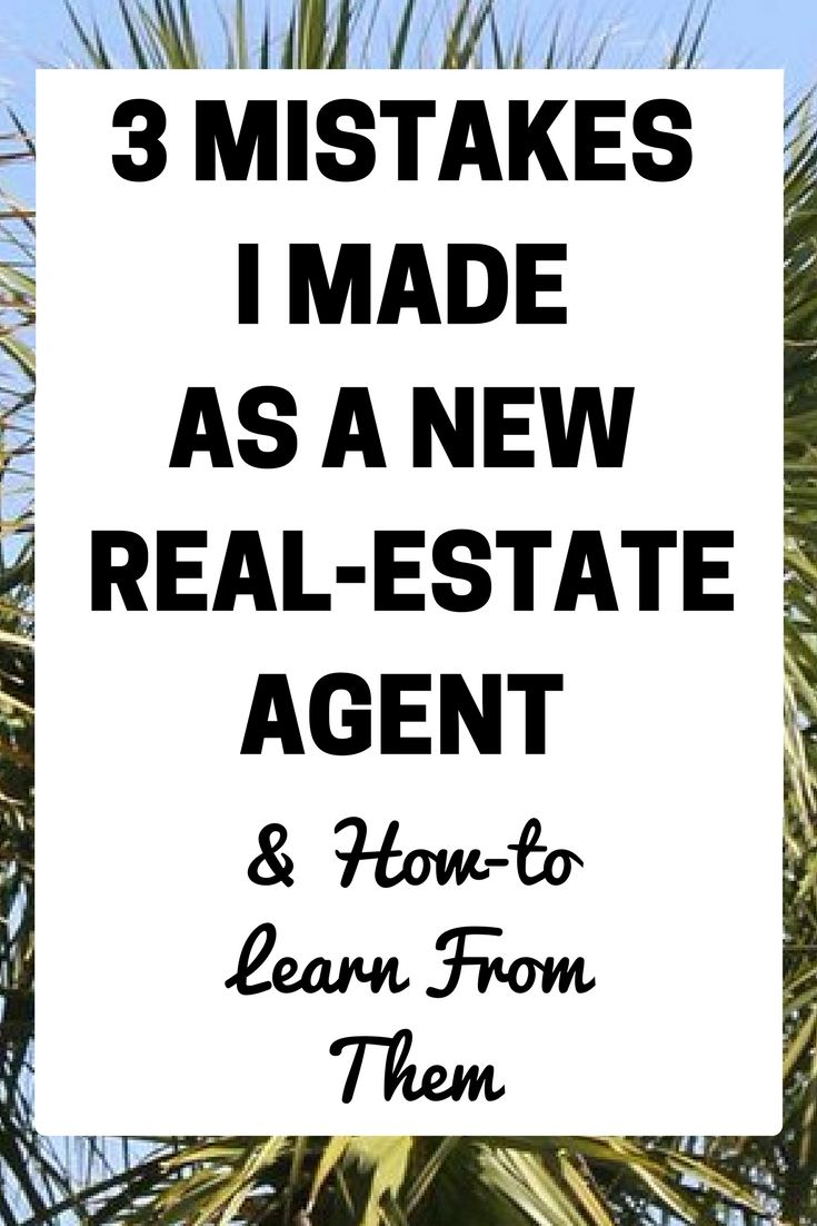 New Real-Estate Agent Advice