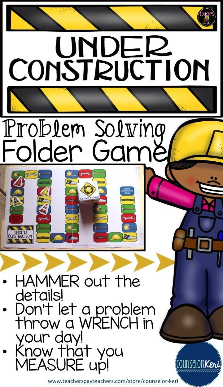 17 best images about problem solving problem folder game to promote positive problem solving skills fun construction theme counselor keri