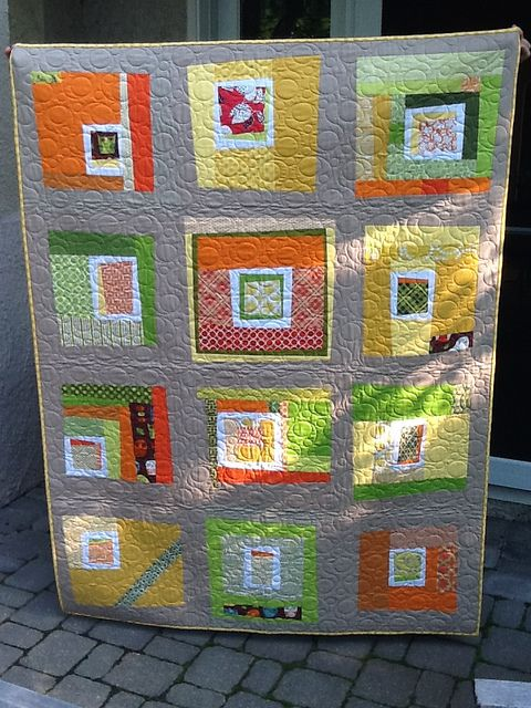 Wonky Log Cabin by IT Girl Quilts!, via Flickr