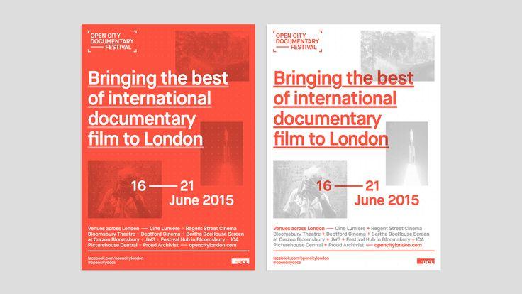 """다음 @Behance 프로젝트 확인: """"Open City Documentary Festival London 2015"""" https://www.behance.net/gallery/30767755/Open-City-Documentary-Festival-London-2015"""