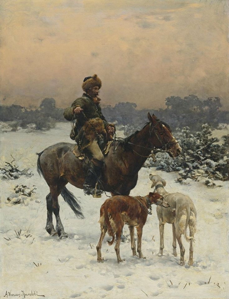 Year of the horse meet with Polish artist realist Kowalski Alfred (Alfred Kowalski-Wierusz 1849-1915). Discussion on LiveInternet - Russian ...