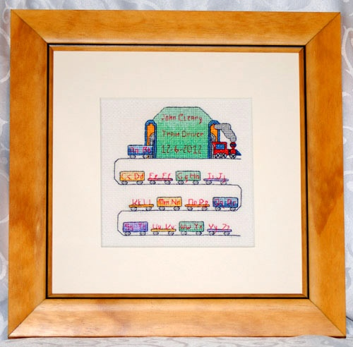 The perfect keepsake gift to celebrate the birth of a new arrival. This beautiful hand embroidered picture is stitched with the name and birth date of your new baby boy.
