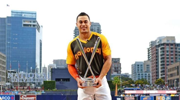 Every MLB Home Run Derby winner  -  July 7, 2017:     2016: GIANCARLO STANTON, MARLINS  -    Todd Frazier made it three straight trips to the finals, but he could not make it a repeat victory performance. This time, he was bested by Giancarlo Stanton, who launched 20 home runs in the finals to beat Frazier at Petco Park in San Diego.