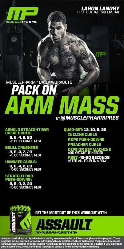 Arm mass  Muscle pharm workout                                                                                                                                                                                 More