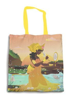 VIDA Foldaway Tote - koi and lotus by VIDA 0J2J9uAoL