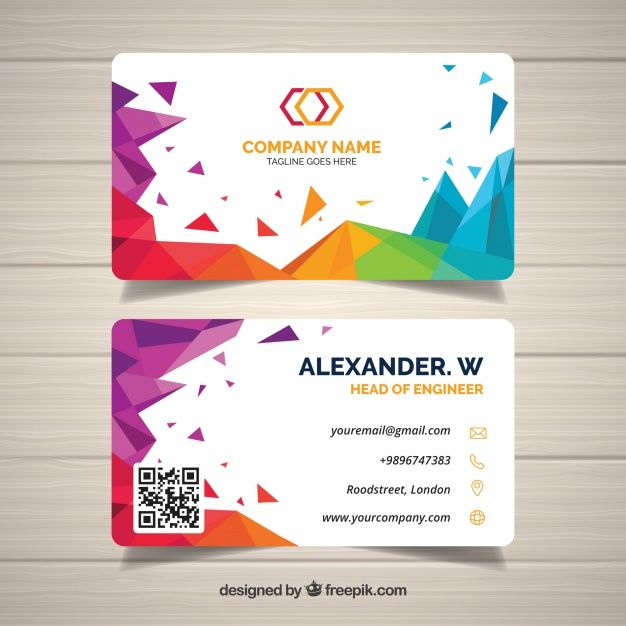 Download Abstract Business Card For Free Visiting Card Format Vector Business Card Business Cards Creative
