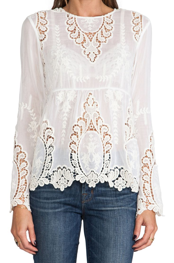 Just lovely! Dolce Vita lace blouse