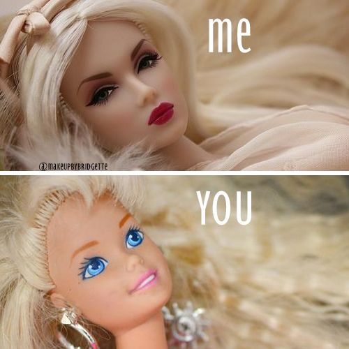 Makeup funny meme: Me vs. You (Basic)