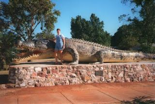 The Big Crocodile, Normanton QLD, is actually a life size replica of the biggest croc ever 'taken' in the WORLD!